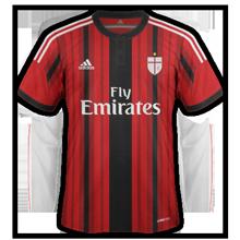 Milan 2015 maillot domicile