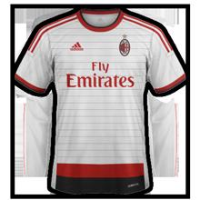 maillot foot 2015 extérieur Milan AC