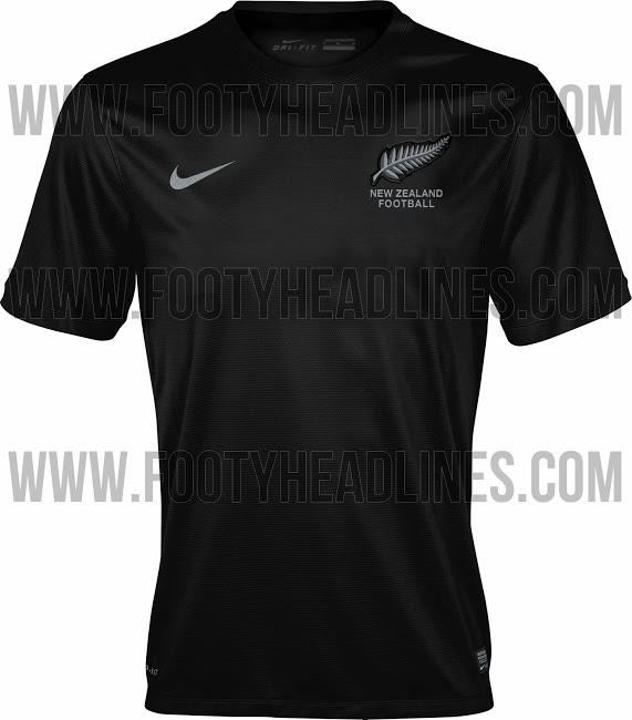 Nouvelle Zelande maillot foot extérieur 2014