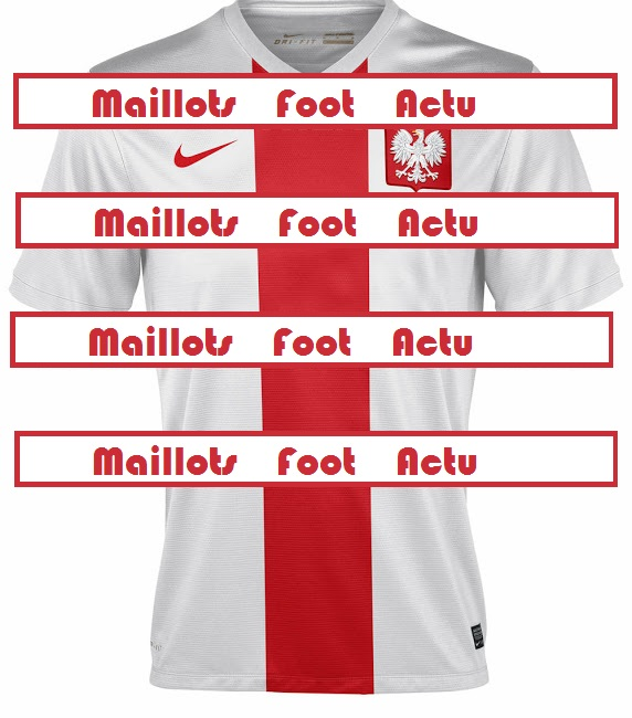 Pologne domicile maillot foot 2014