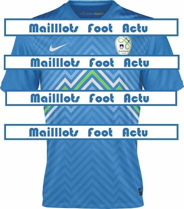 Slovénie maillot foot extérieur 2014