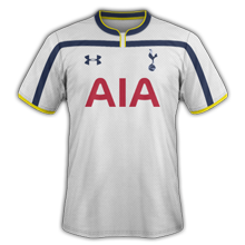 Tottenham 2015 maillot domicile football