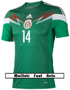 flocage face avnt maillot Mexique mondial 2014 Chicharito 14