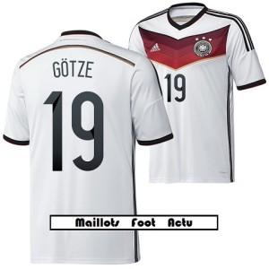 flocage maillot Allemagne coupe monde 2014 Götze 19