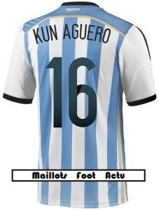 flocage maillot Argentine mondial 2014 Kun Agüero 16