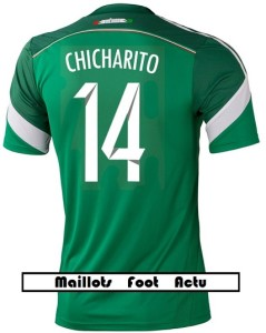 flocage maillot Mexique mondial 2014 Chicharito 14