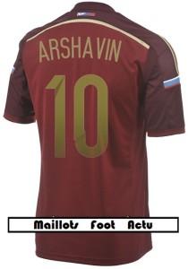 flocage maillot Russie mondial 2014 Arshavin 10