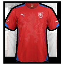 maillot foot domicile Republique Tcheque 2014