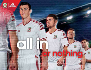 équipe Pays de Galles maillot foot extérieur 2014
