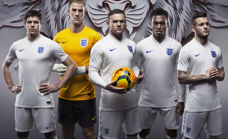 Angleterre maillot foot domicile coupe du monde 2014