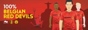 maillot domicile Belgique 2014 cartoon