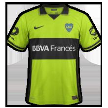 Boca Juniors 2014 maillot third jaune fluo