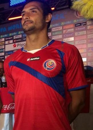 Costa rica maillot domicile coupe du monde 2014 maillots foot actu - Derniere coupe du monde foot ...