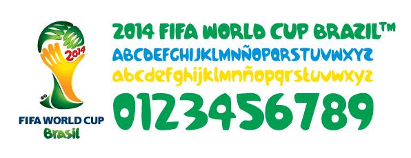 FIFA World Cup 2014 pagode font