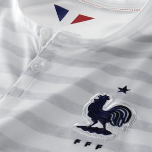 Maillot extérieur France 2014 coupe du monde 2014 blason col