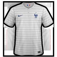 France 2014 maillot football extérieur coupe du monde
