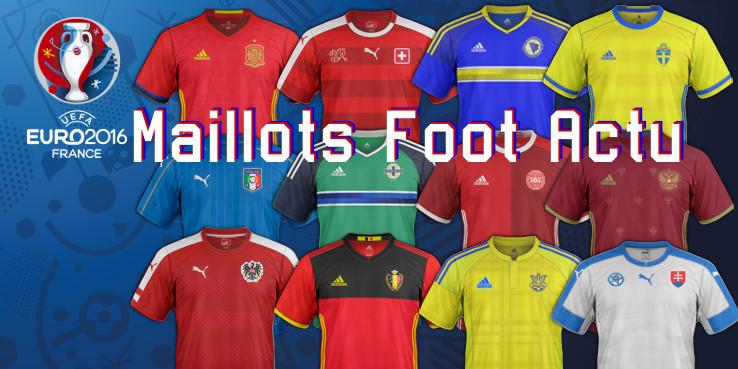 Les mailllots de l'Euro 2016