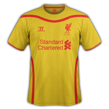 Liverpool 2015 maillot foot extérieur