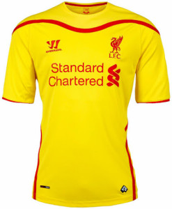 Liverpool 2015 maillot exterieur 14-15