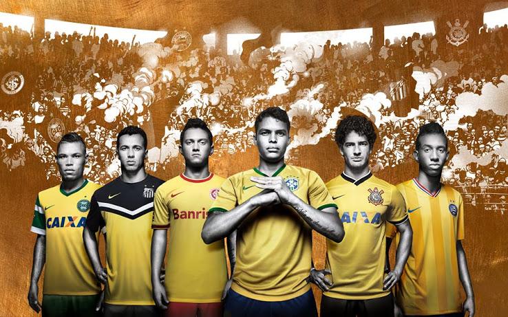 Nike maillots third jaune clubs brésiliens
