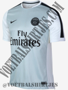 PSG maillot pre-match 2015