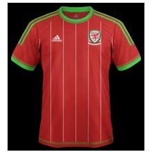 Pays de Galles 2015 maillot foot domicile Adidas