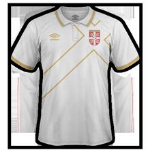 Serbie 2014 2015 maillot exterieur qualifs euro 2016