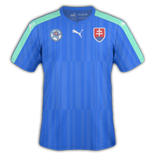 Slovaquie Euro 2016 maillot exterieur foot