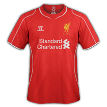 Liverpool 2015 maillot foot domicile