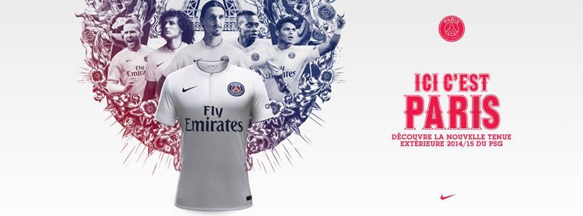 Paris Saint Germain 2015 maillot extérieur 14 15