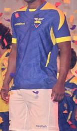 maillot extérieur Equateur football coupe du monde 2014