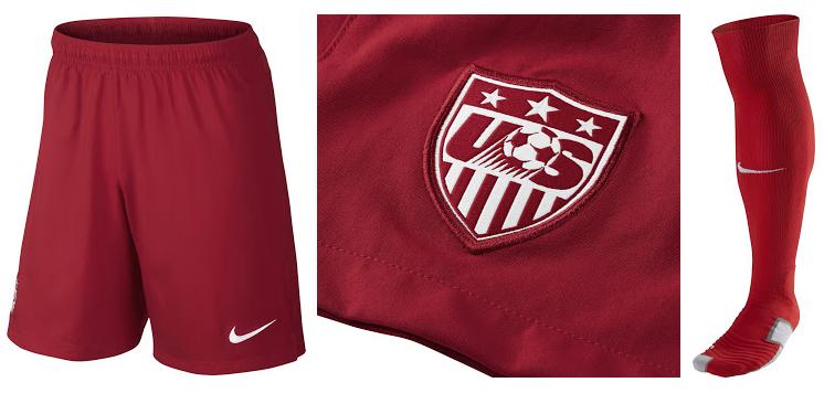 Etats-Unis 2014 short football chaussettes extérieur