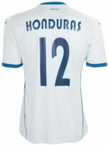 Honduras 2014 maillot foot domicile dos flocage