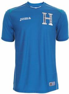 Honduras 2014 maillot foot ext%C3%A9rieur 222x300 صور تيشرتات كل منتخبات كأس العالم 2014