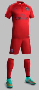 PSG 2015 troisième maillot short chaussettes Paris Saint Germain