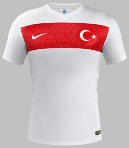 maillot de foot Turquie extérieur 2014