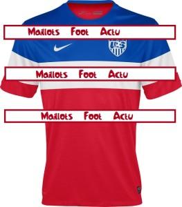 maillot extérieur Etats-Unis 2014 USA coupe du monde