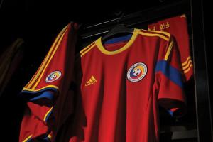 Roumanie 2014 maillot foot extérieur