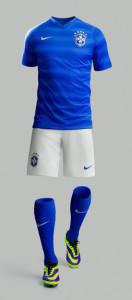 short chaussettes maillot extérieur Brésil coupe du monde 2014