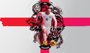 Angleterre 2014 Rooney Nike Risk Everything