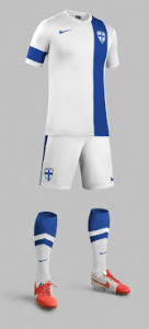 Finlande 2014 maillot short chausettes football domicile