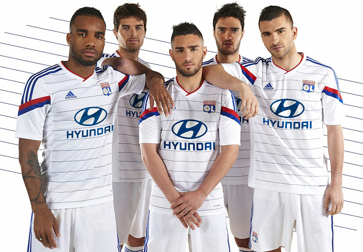 OL 2015 maillot domicile officiel