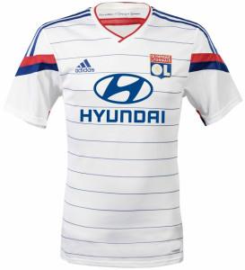 OL 2015 maillot football domicile Olympique Lyonnais 2014 2015