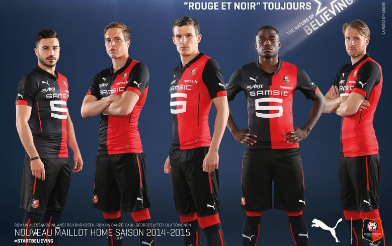 rennes 2015 maillots de football maillots foot actu. Black Bedroom Furniture Sets. Home Design Ideas