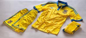 Ukraine 2014 domicile Adidas maillot short chausettes football