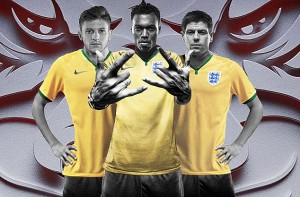 troisieme maillot foot angleterre third coupe du monde 2014