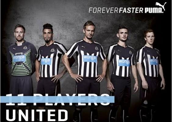 Newcastle maillot domicile 2015 officiel