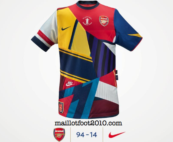 20 ans Arsenal maillot collector Nike  football