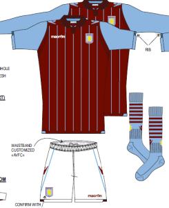 Aston Villa 2015 maillot domicile football
