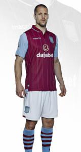 Aston Villa 2015 maillot domicile football officiel